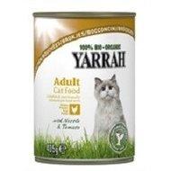 Yarrah biologische kattenbrokjes in saus: kip met brandnetel en tomaat