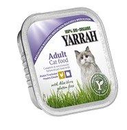 Yarrah biologische kattenbrokjes in saus: kip, kalkoen en Aloë Vera