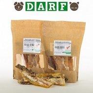gedroogde rundernekspier biologische hondensnack van Darf