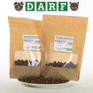 Rund/zalm trainers, een biologische, hapklare hondensnack van Darf